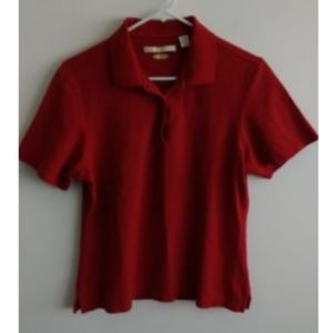 Greg Norman womens polo t shirt size M red